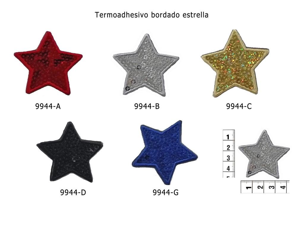 Termoadhesivo bordado estrella 9944