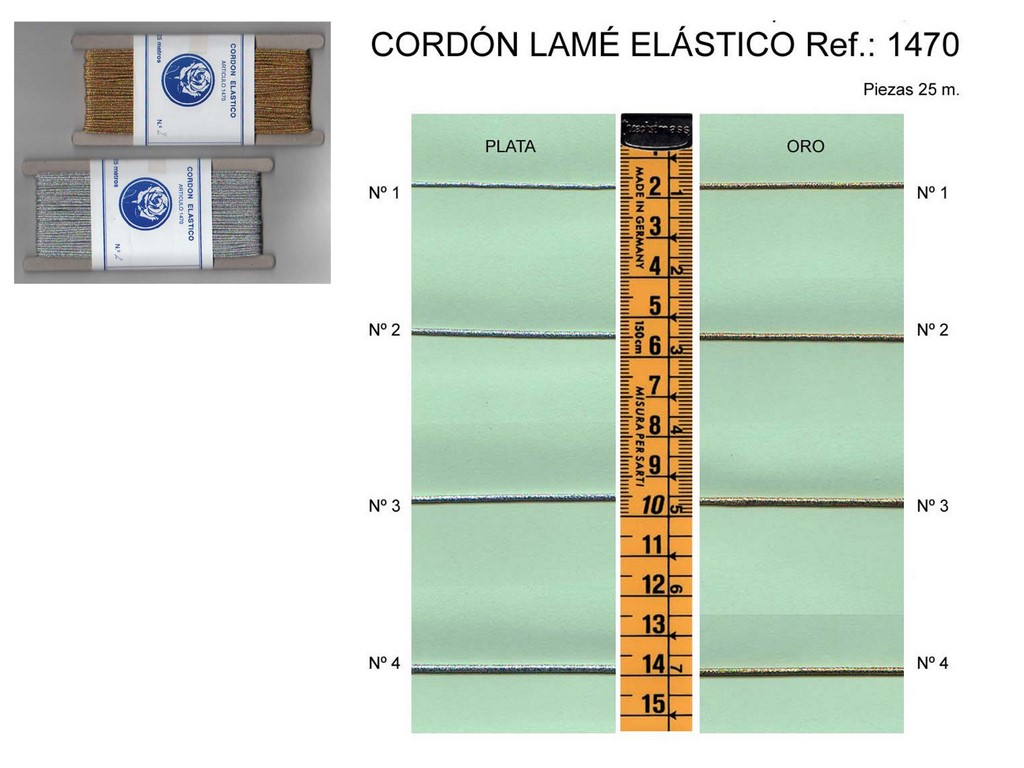 Cordon lame elastico 1470