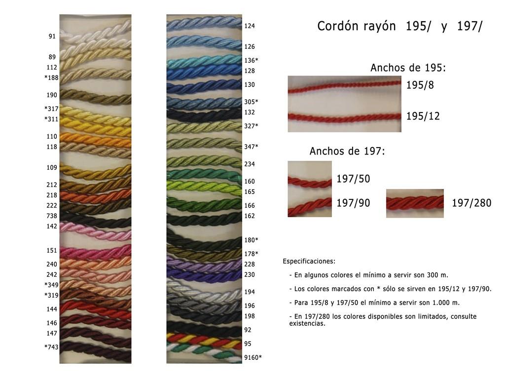 Cordon rayon 195 y 197
