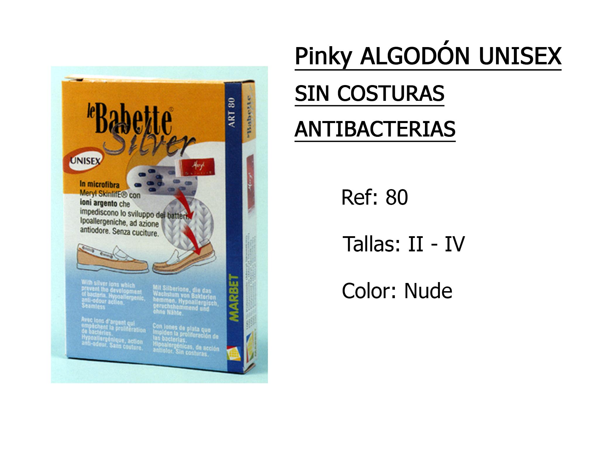 PINKY algodon unisex sin costuras 80