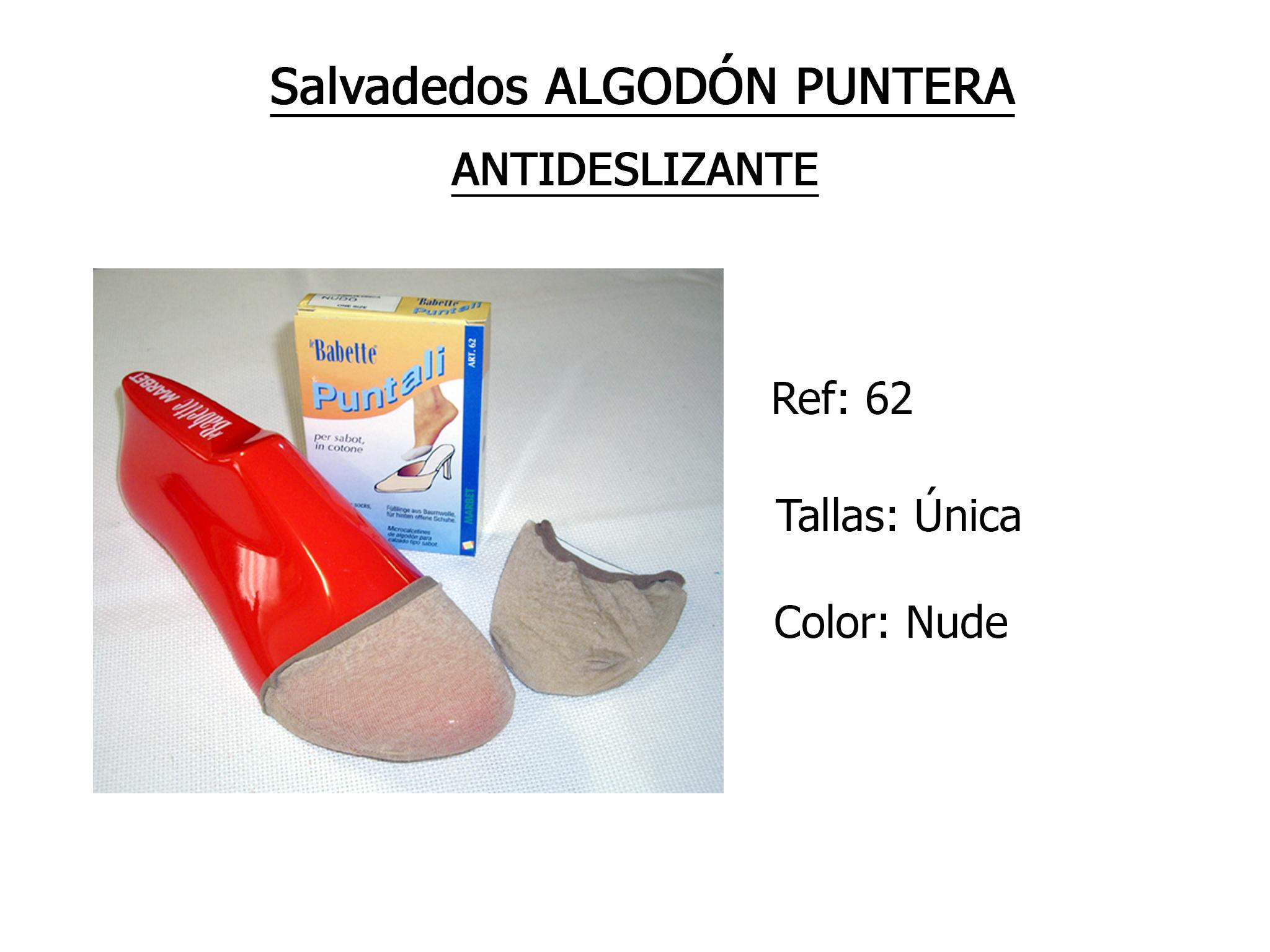 SALVADEDOS algodon puntera antideslizante 62