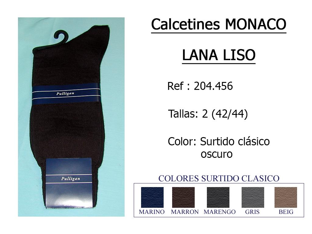 CALCETINES monaco lana liso 204.456