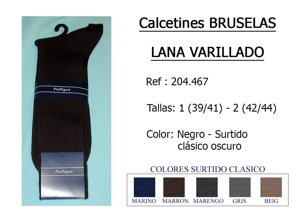 CALCETINES bruselas lana varillado 204467