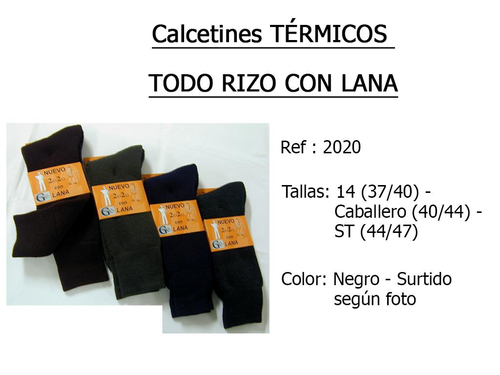 CALCETINES termicos todo rizo con lana 2020