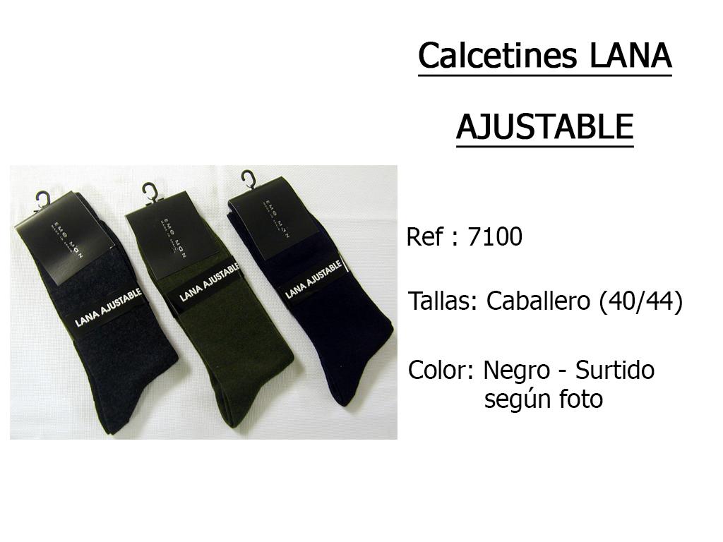 CALCETINES lana ajustable 7100