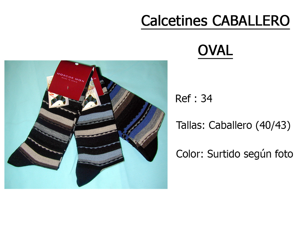CALCETINES caballero oval 34
