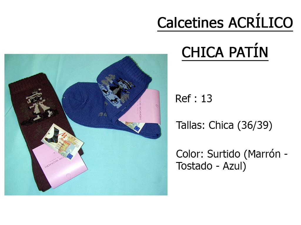 CALCETINES acrilico chica patin 13