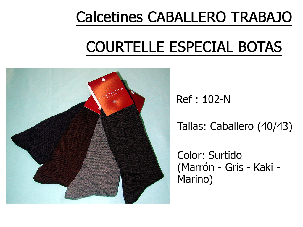 CALCETINES caballero trabajo courtelle 102N