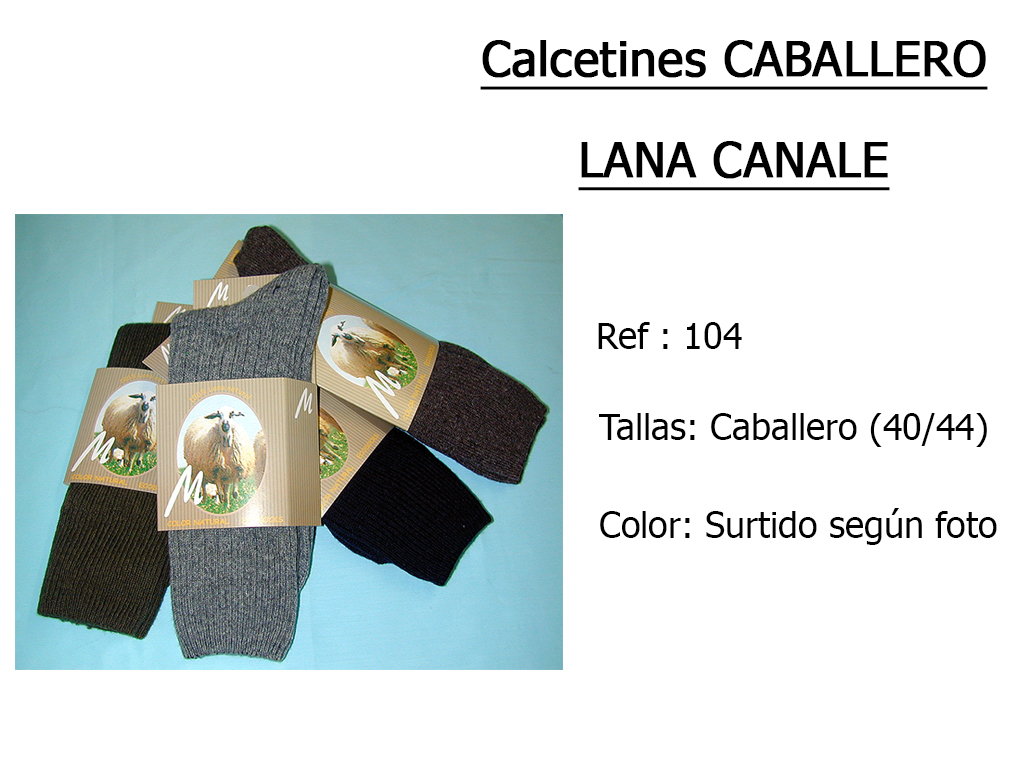 CALCETINES caballero lana canale 104