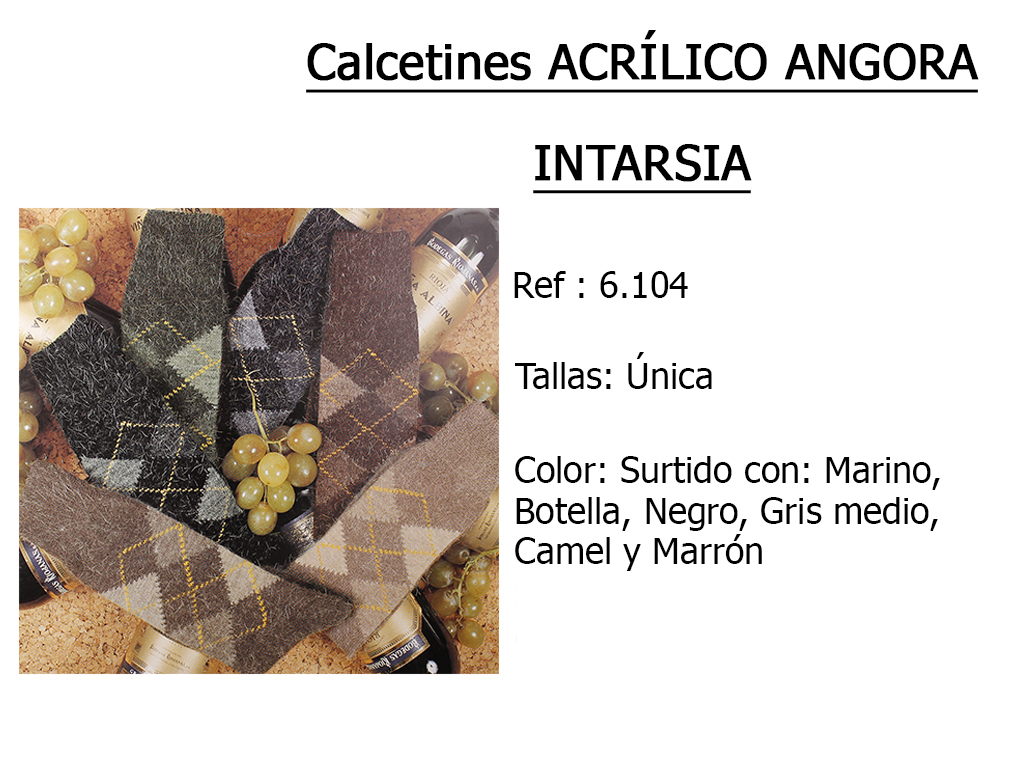 CALCETINES acrilico angora intarsia 6104