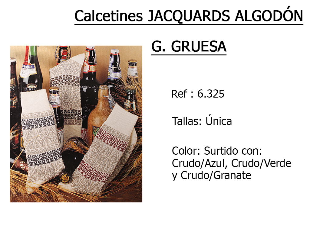 CALCETINES jacquards g gruesa algodon 6325