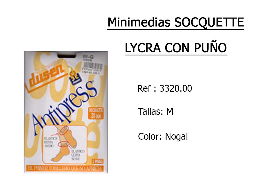 MINIMEDIAS socquette lycra puno 332000