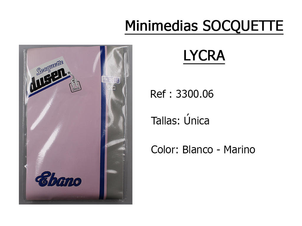 MINIMEDIAS sockette lycra 330006