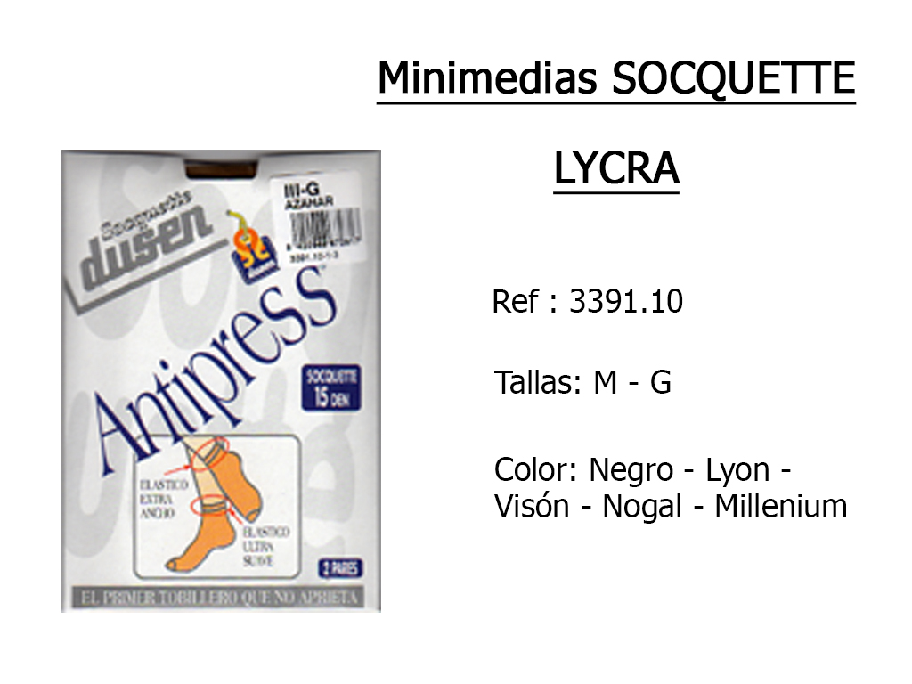 MINIMEDIAS socquette lycra 339110