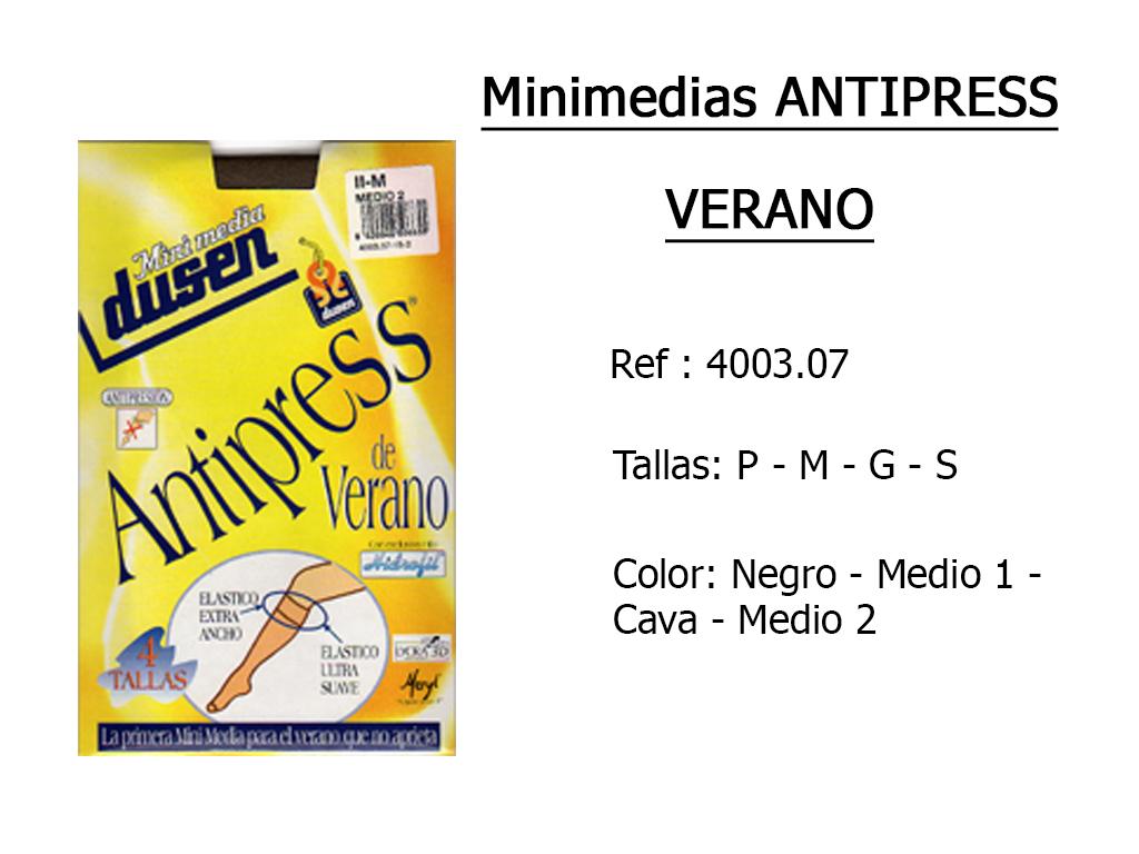 MINIMEDIAS antipress verano 400307