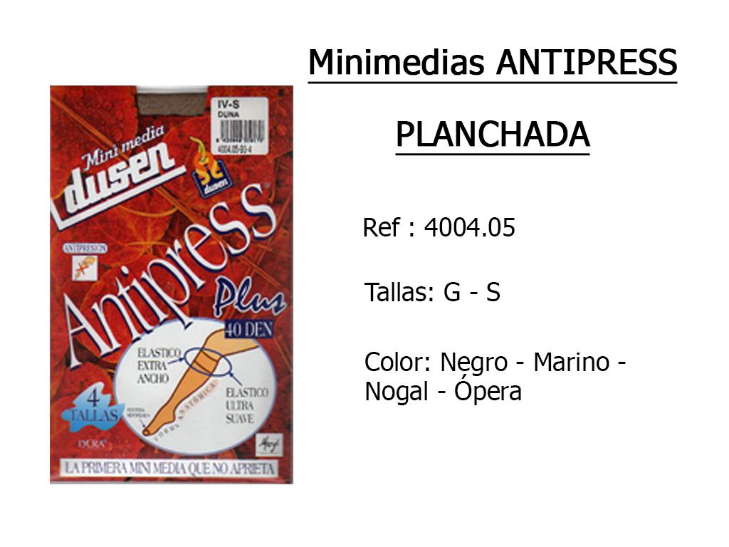 MINIMEDIAS antipress planchada 400405