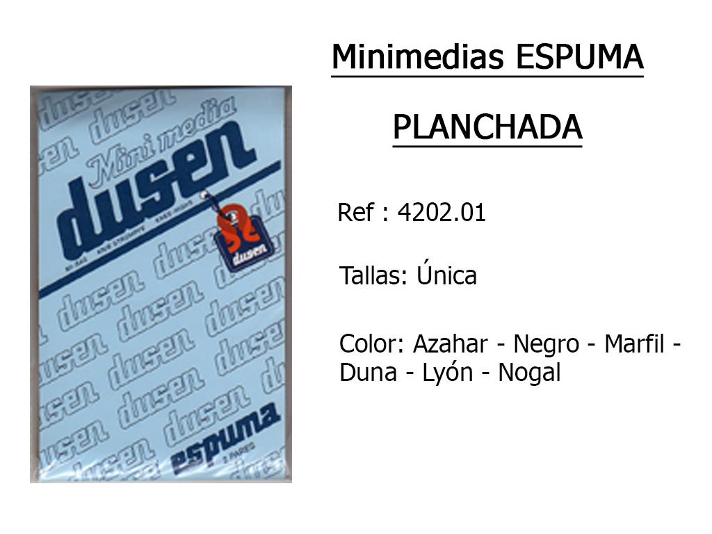 MINIMEDIAS espuma planchadas 420201