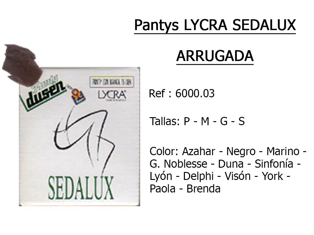 PANTYS lycra sedalux arrugada 600003