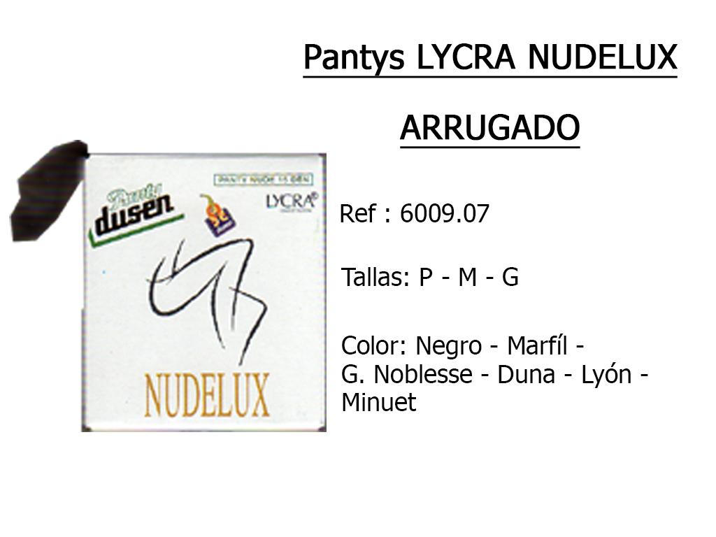 PANTYS lycra nudelux arrugado 600907