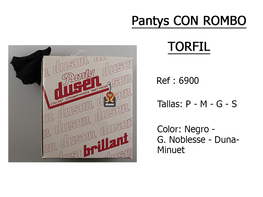 PANTYS con rombos torfil 6900