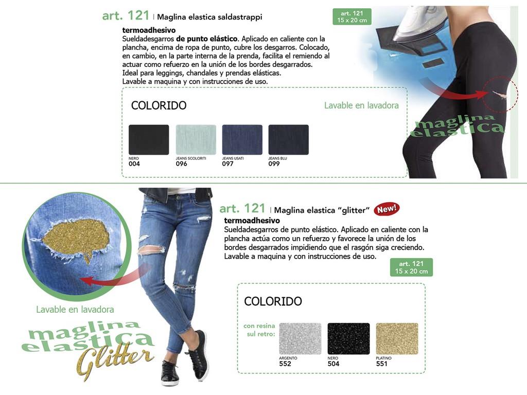 Saldastrapi elastico y glitter 121