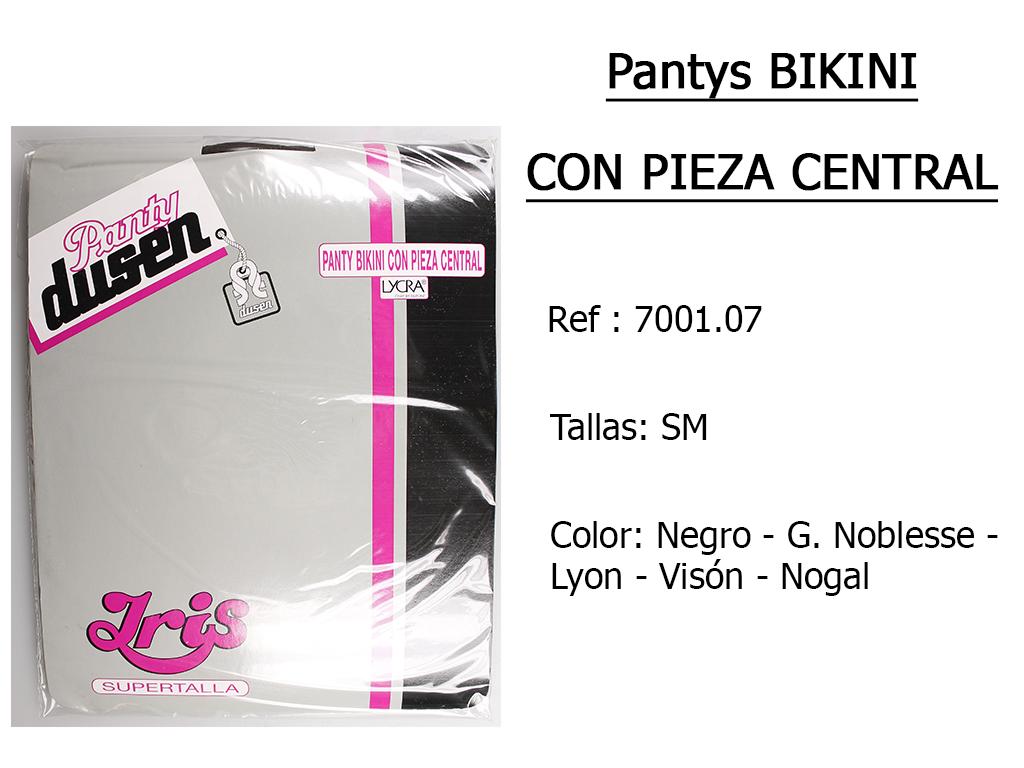 PANTYS bikini con pieza central 700107