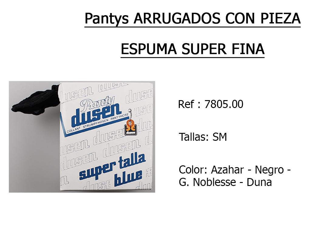 PANTYS arrugados con pieza espuma 780500