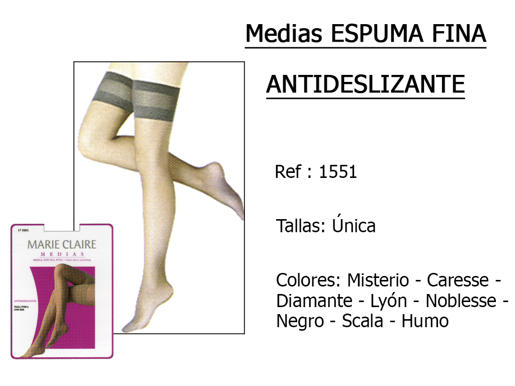 MEDIAS espuma fina antideslizante 1551