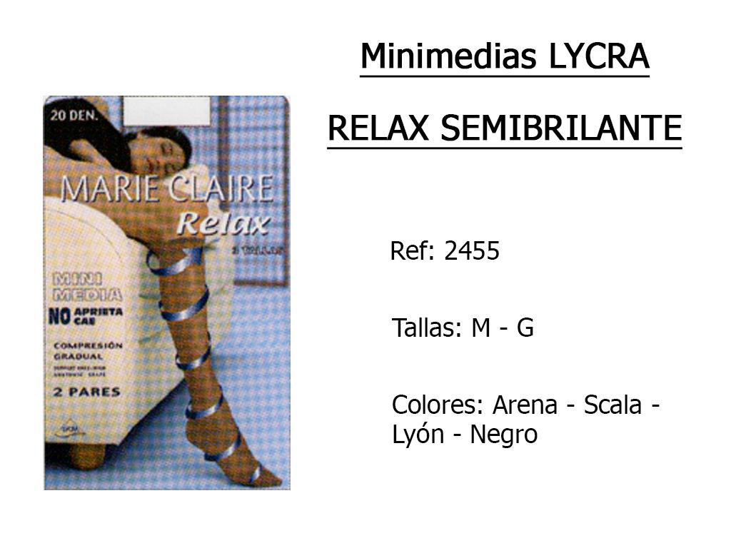 MINIMEDIAS relax lycra semibrillante 2455