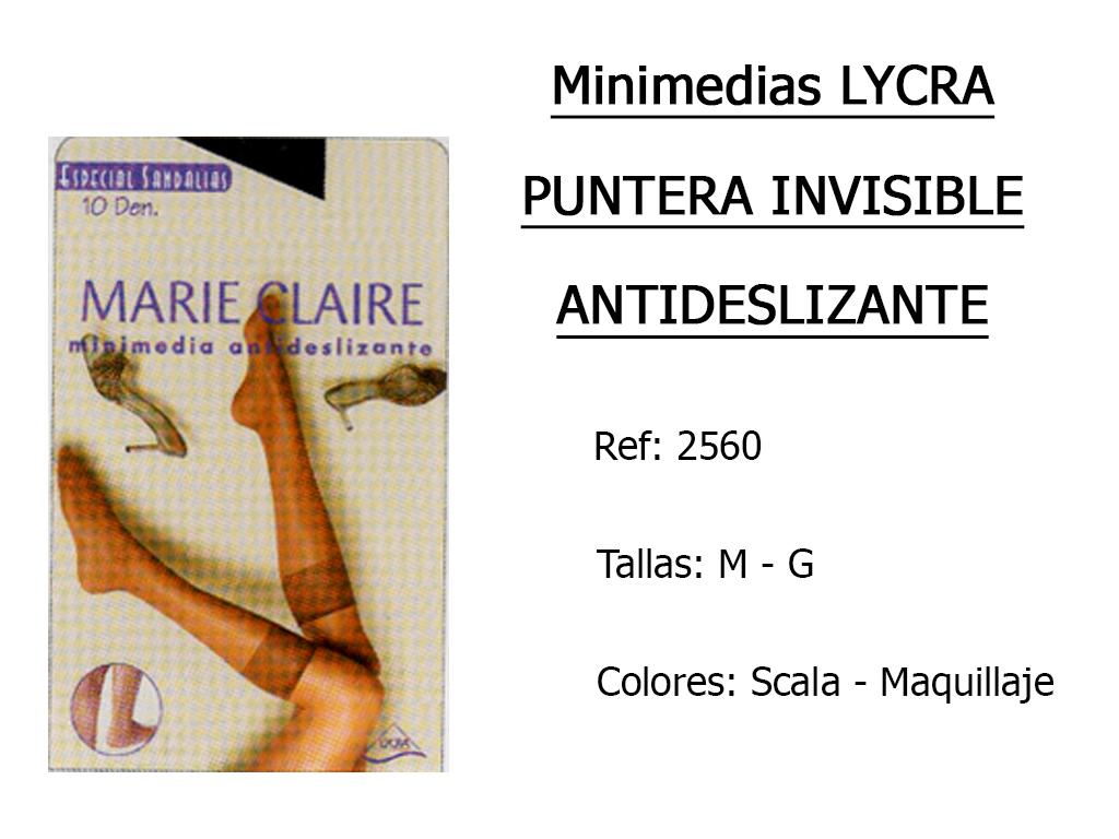 MINIMEDIAS lycra puntera invisible antideslizante 2560