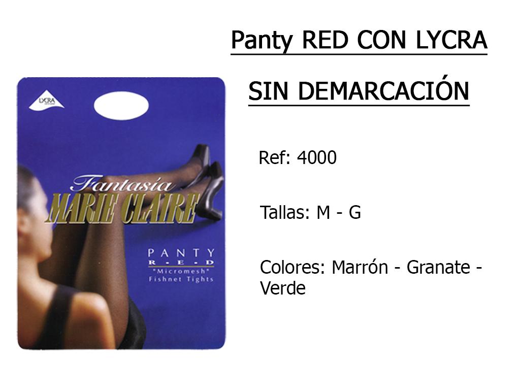 PANTY red con lycra sin demarcacion 4000