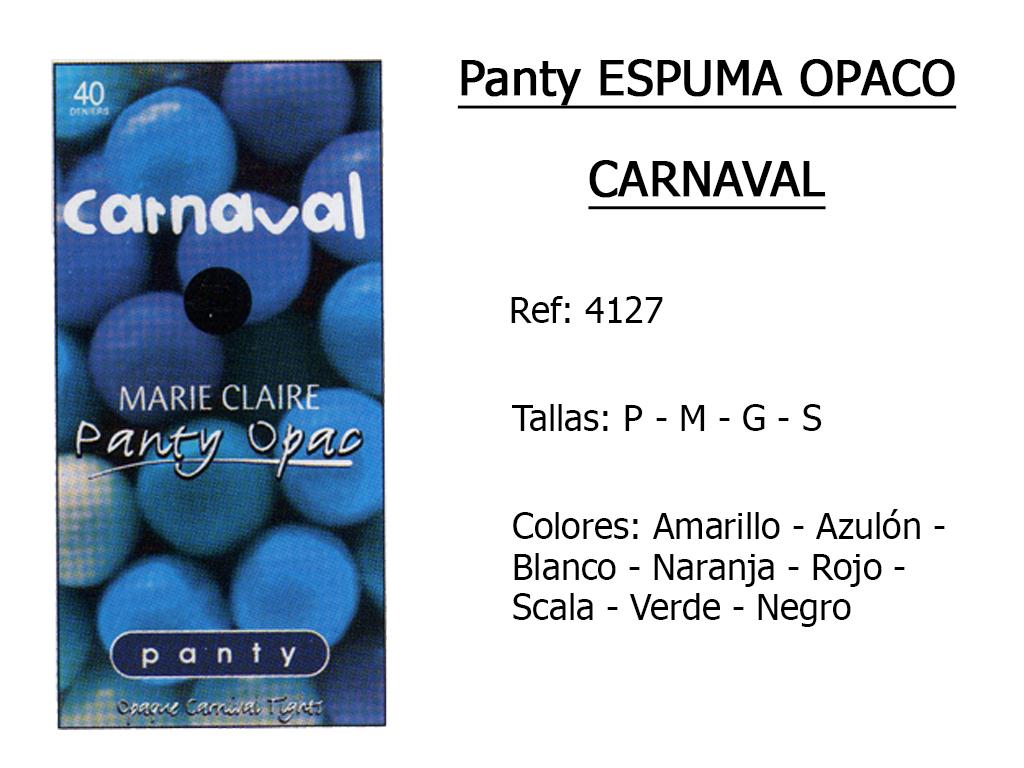 PANTYS espuma opaco carnaval 4127