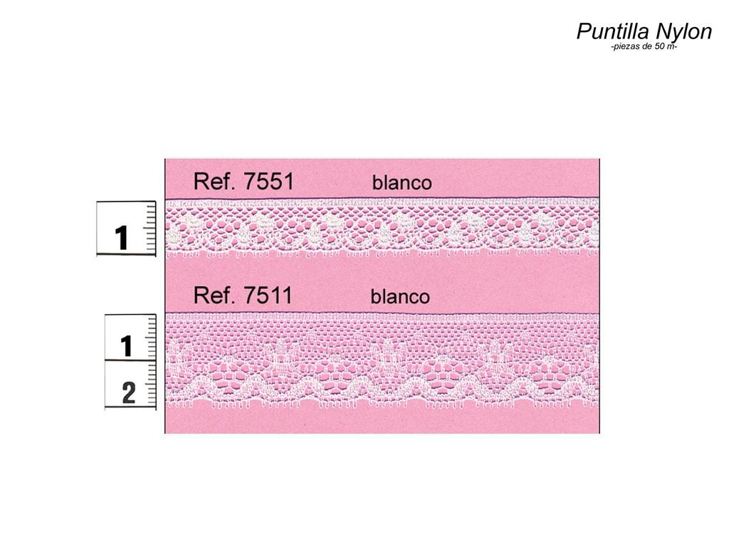 Puntilla nylon 7551 y 7511