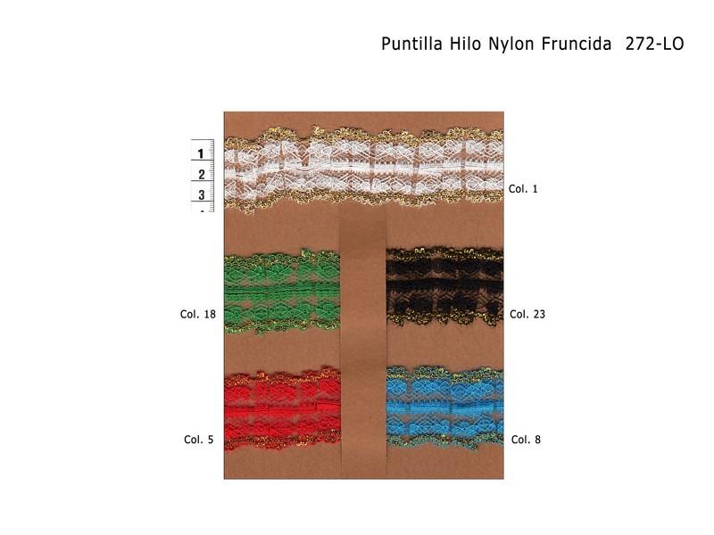 Puntilla ; nylon ; fruncida ; 272-LO