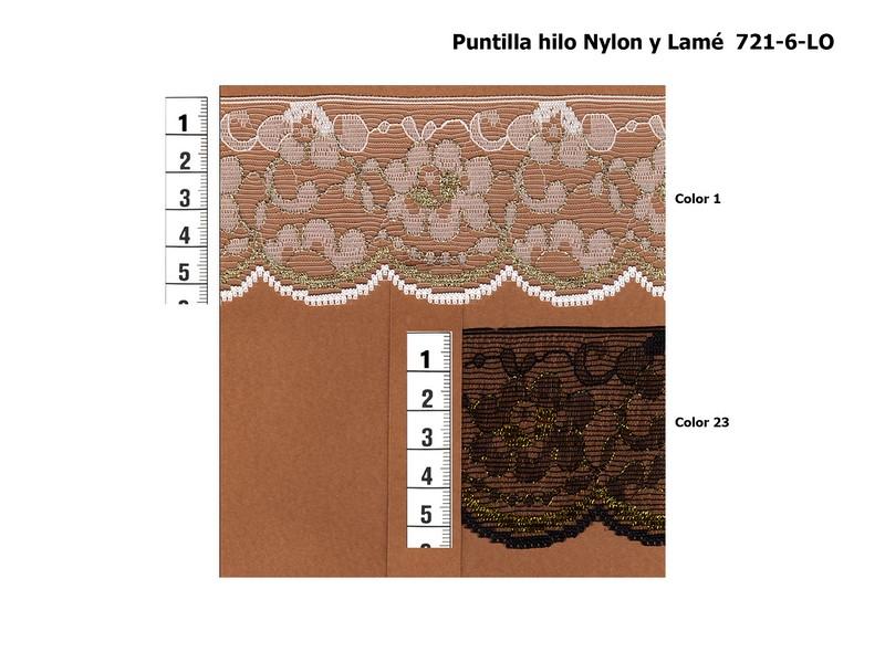 Puntilla nylon y lamé 721-6-LO
