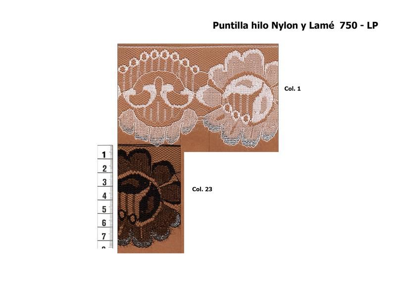 Puntilla nylon y lamé 750-LP