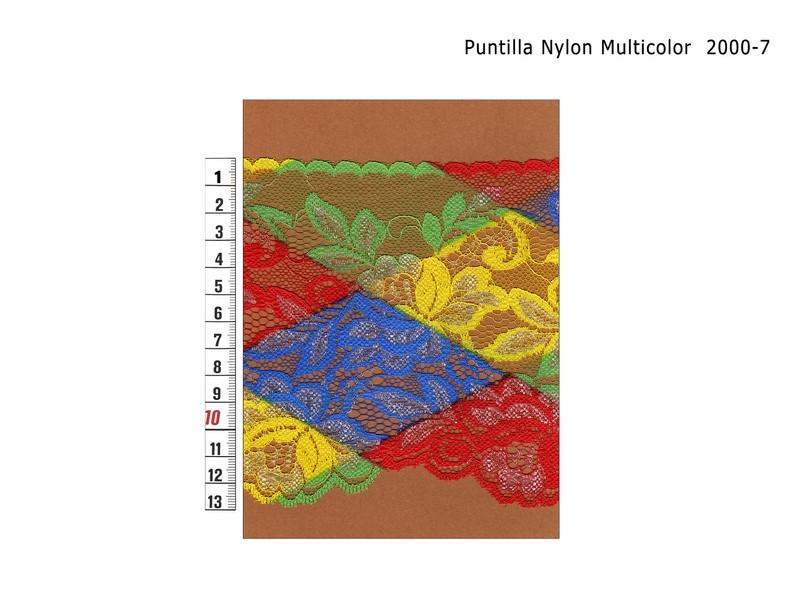 PUNTILLA NYLON MULTICOLOR 2000-7