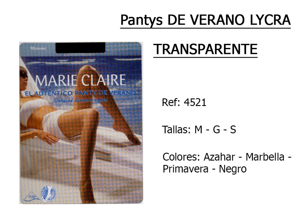 PANTYS de verano lycra transparente 4521