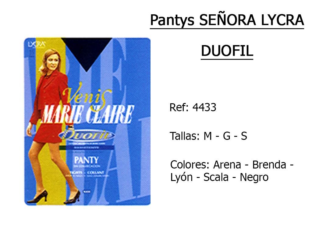 PANTYS senora lycra duofil 4433