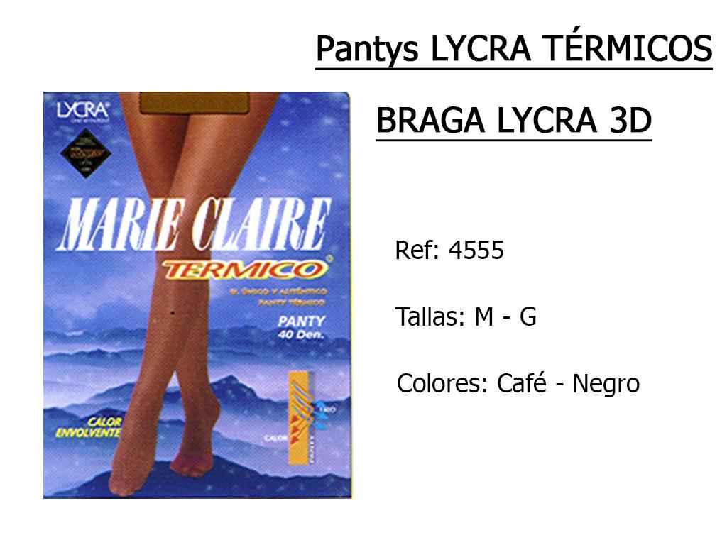 PANTYS lycra termicos braga lycra 3D 4555