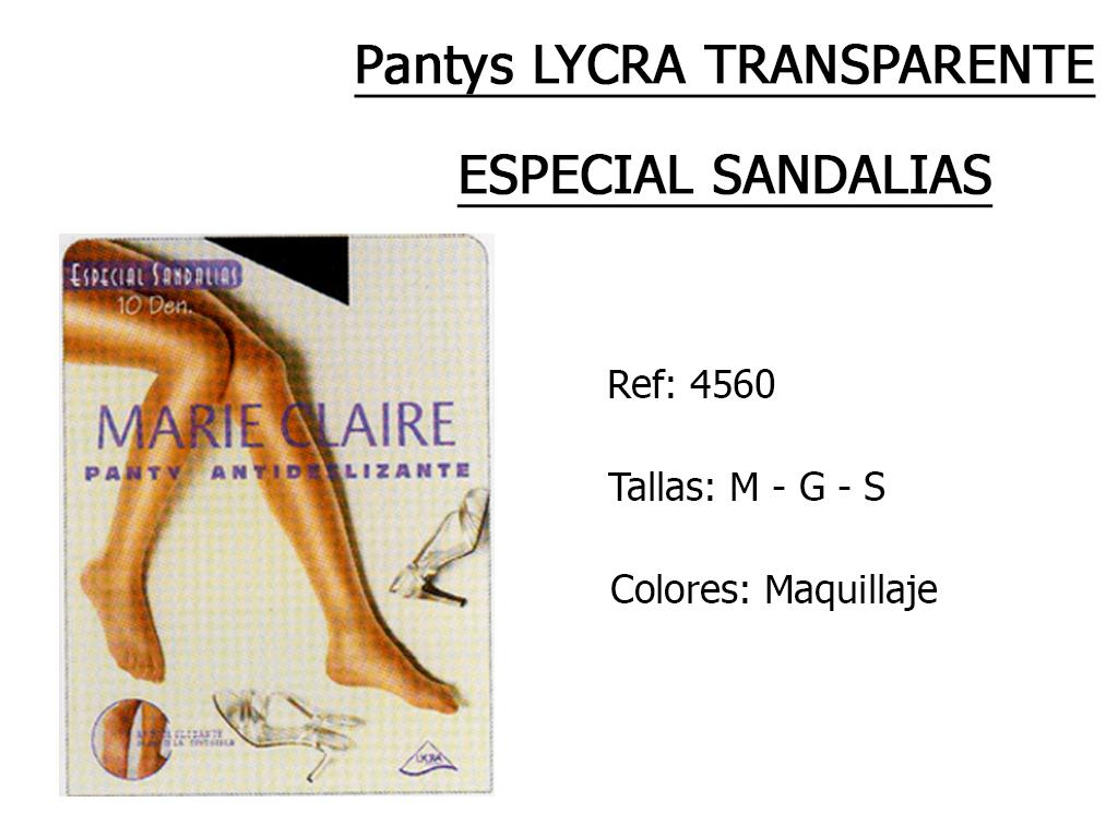PANTYS lycra transparente especial sandalias 4560