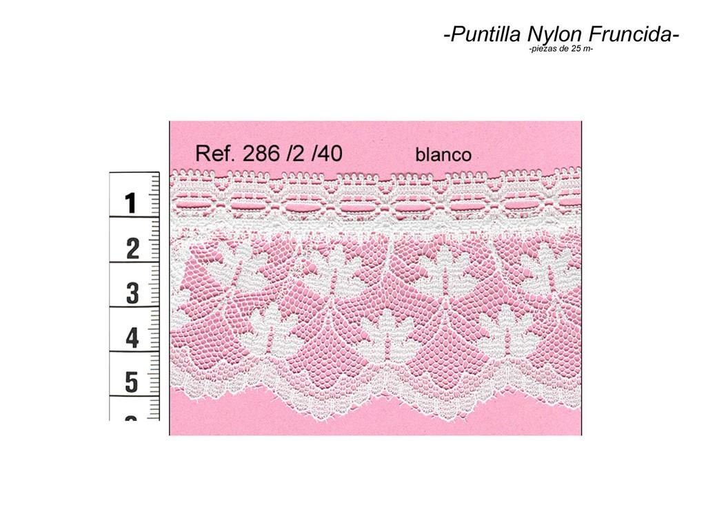Puntilla nylon fruncida 286/2/40