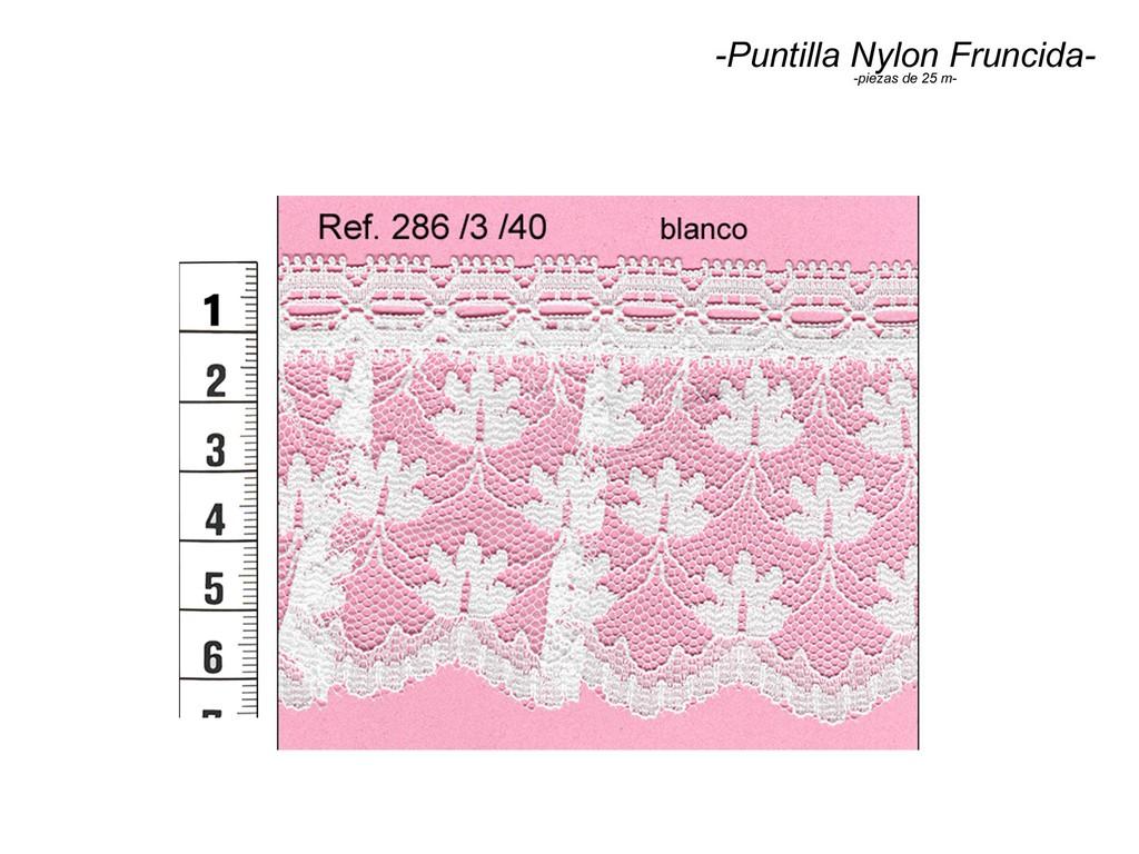 Puntilla nylon fruncida 286/3/40