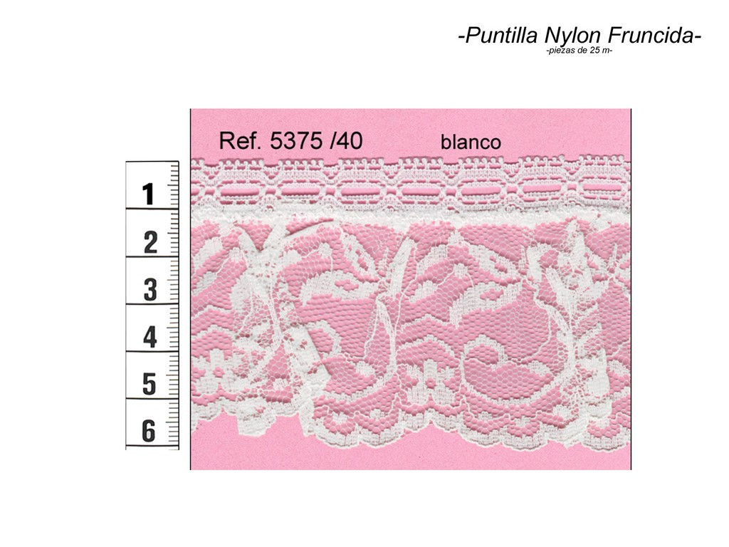 Puntilla nylon fruncida 5375/40
