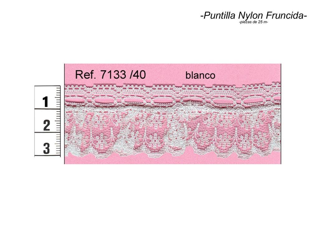 Puntilla nylon fruncida 7133/40