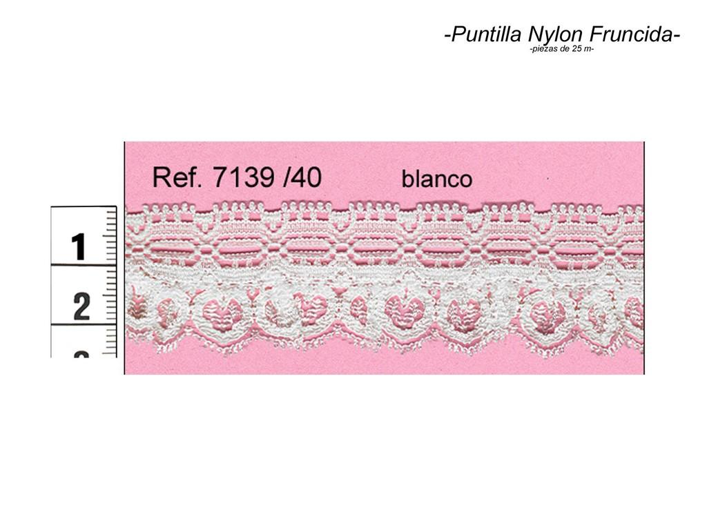 Puntilla nylon fruncida 7139/40