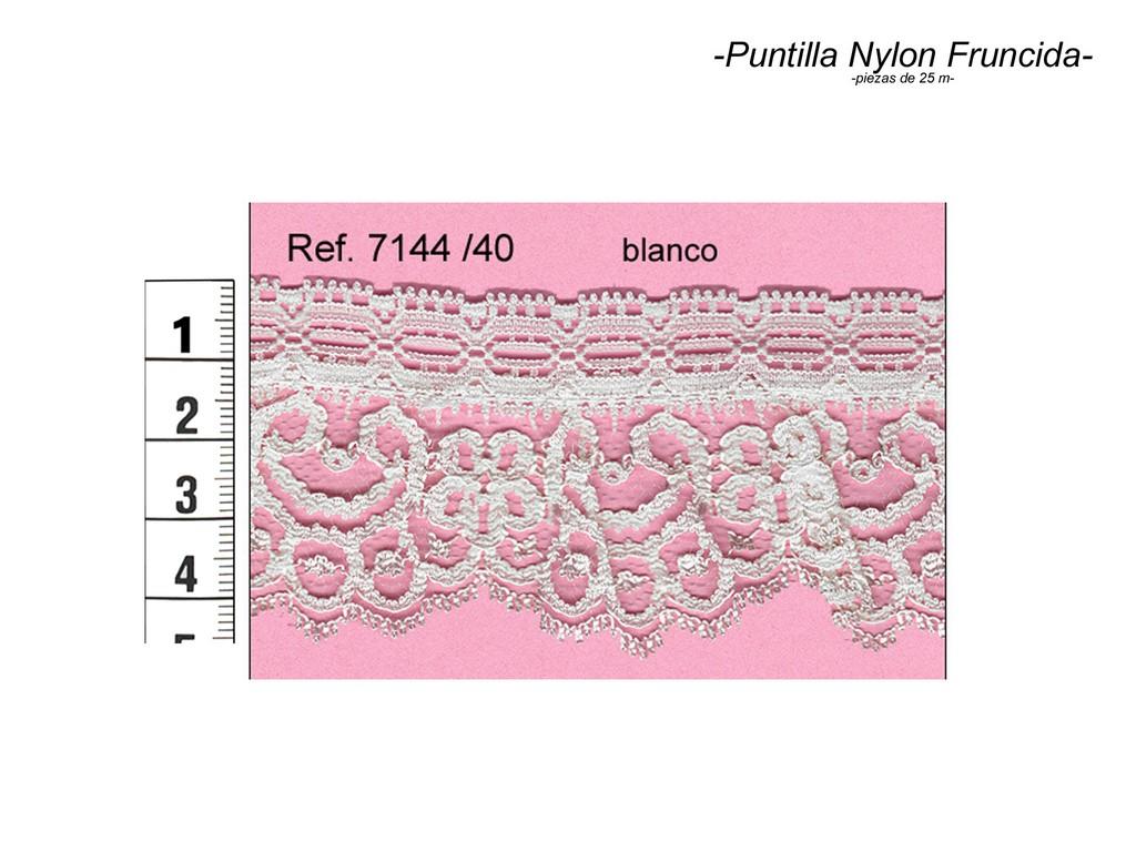 Puntilla nylon fruncida 7144/40