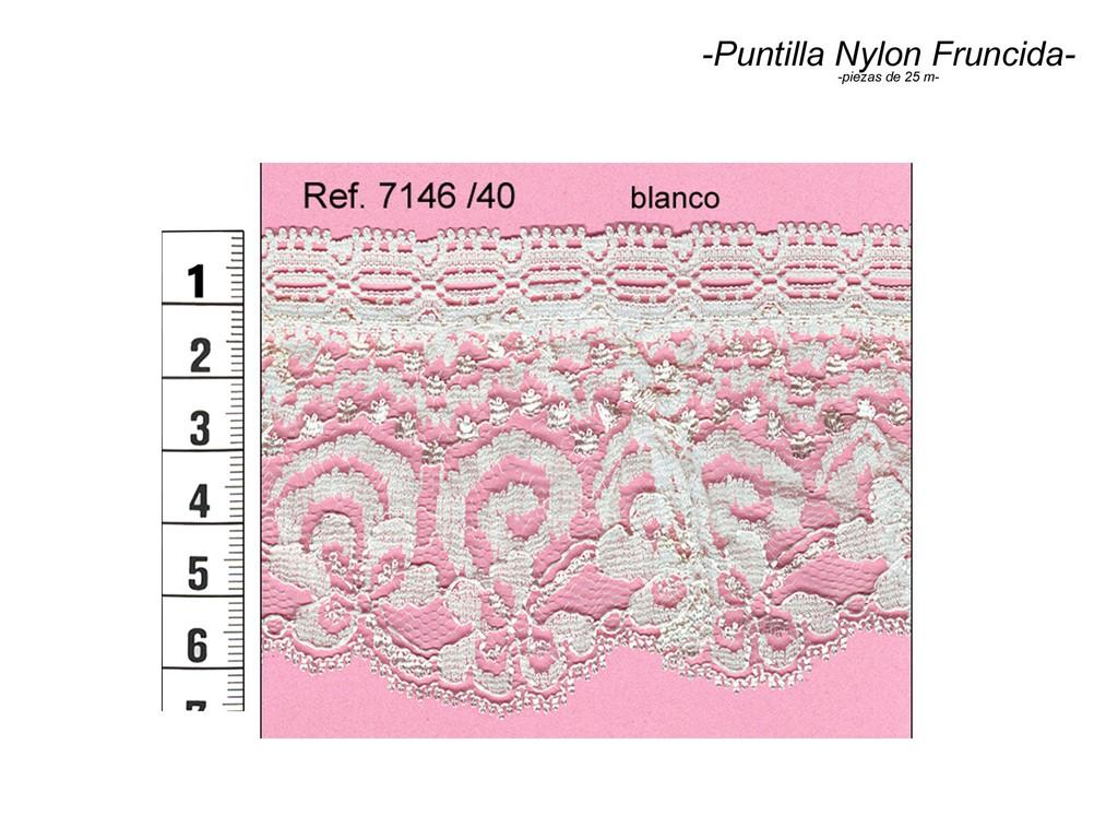 Puntilla nylon fruncida 7146/40