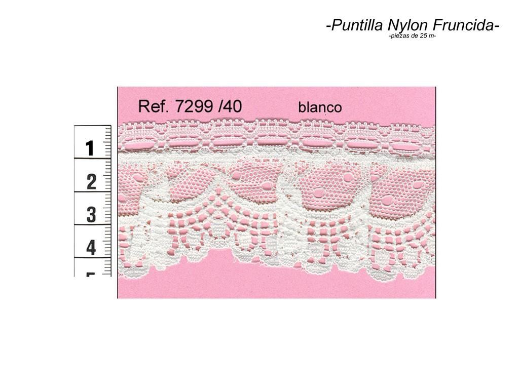 Puntilla nylon fruncida 7299/40