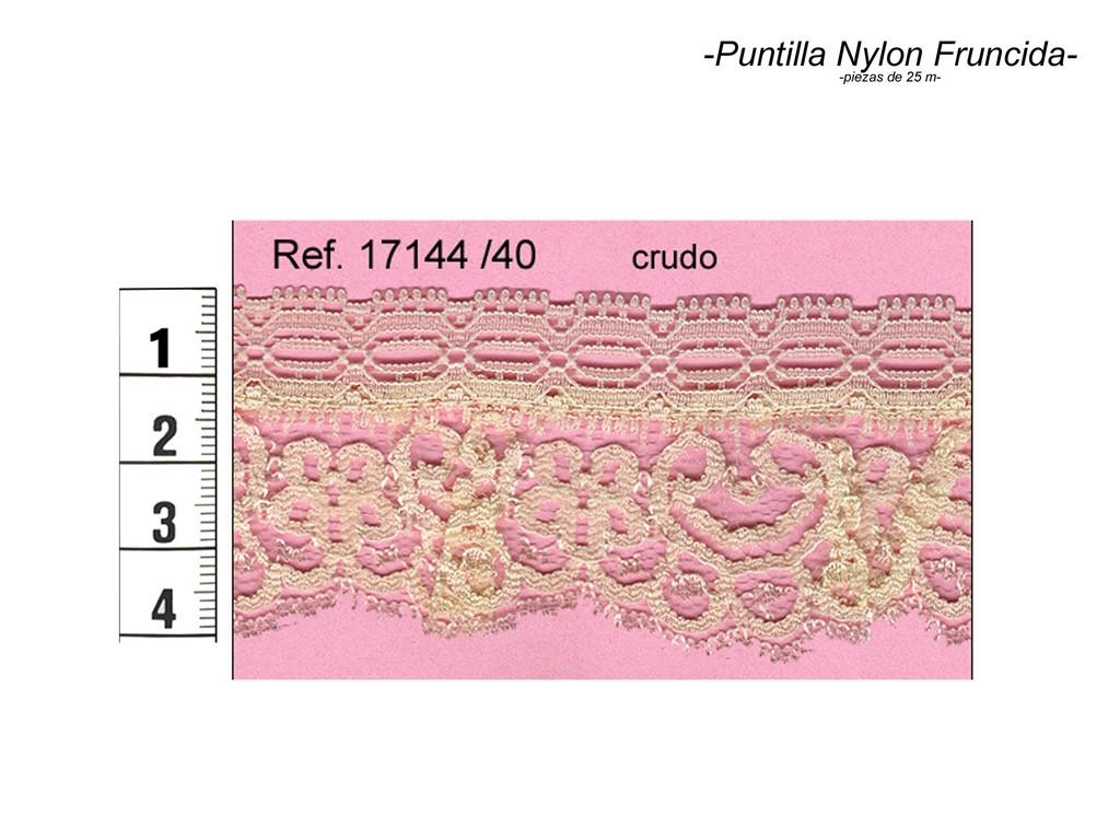 Puntilla nylon fruncida 17144/40